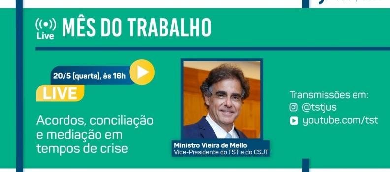 Live: vice-presidente do TST falará sobre acordos pré-processuais em tempos de crise